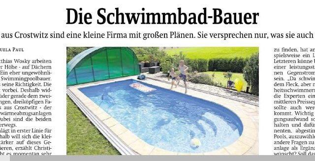 K.IM.S. GmbH Poolbau Artikel Sächsische Zeitung